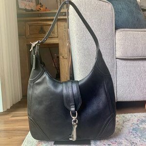 Black Coach Hampton's Large Hobo Handbag